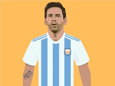 Lionel Messi design lionel messi illustration argentina football messi