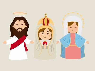 Jesus, Mary, Nativity clip art