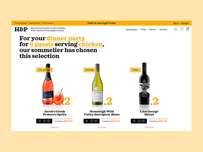 H&P wine store 03 checkout page wine ecommerce ui