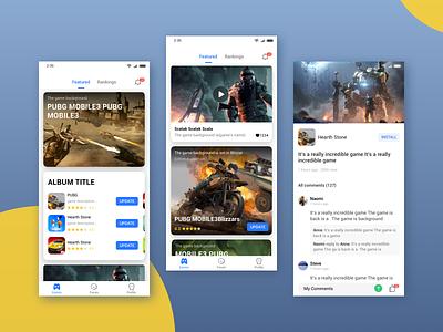 Mi Games App Design icon ux app ui