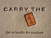 Carry The 1 Letterpress