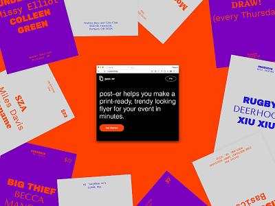 Post-er web app flyer poster ui web design