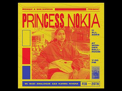 Princess Nokia Flyer princess nokia type design poster flyer