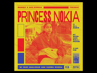 Princess Nokia Flyer princess nokia type design poster flyer