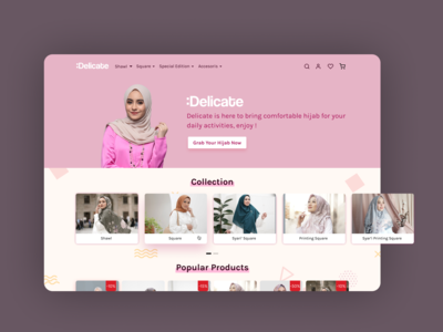 Delicate - Hijab Store Landing Page