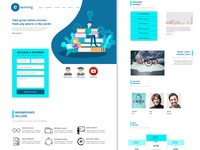 E-learning-landing-page-concept