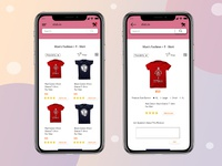 Mobile e-commerce Ui