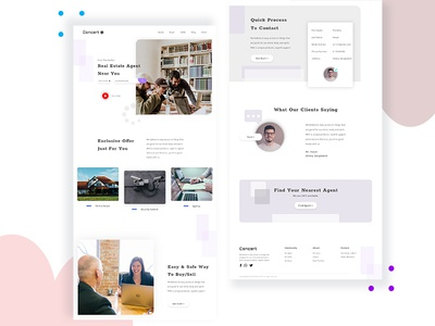 Real estate company landing page concept