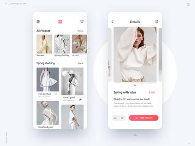Luxury Goods App ui app
