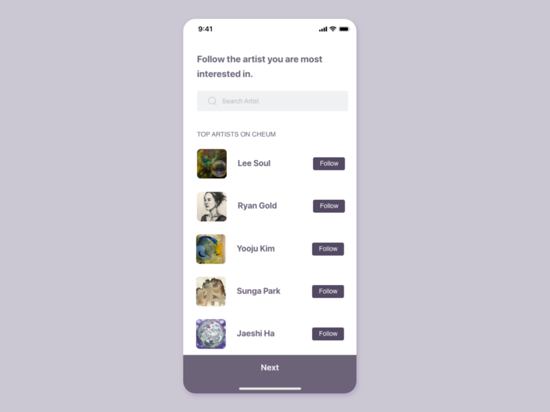Artwork app UI concept lists card art uiuxdesin uiux artwork detail page app design ui