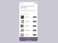 Artwork app UI concept
