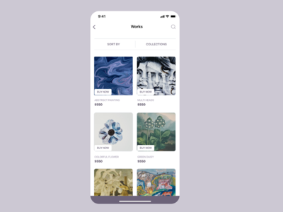 Artwork app UI concept 2