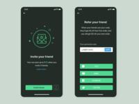 invite friend UI concept