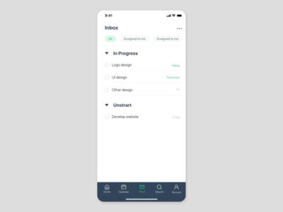 Teamwork app UI concept
