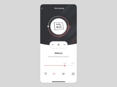 music app UI concept 2