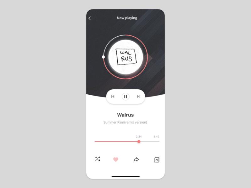 music app UI concept 2 music app music uiuxdesign uiux card detail page app design ui