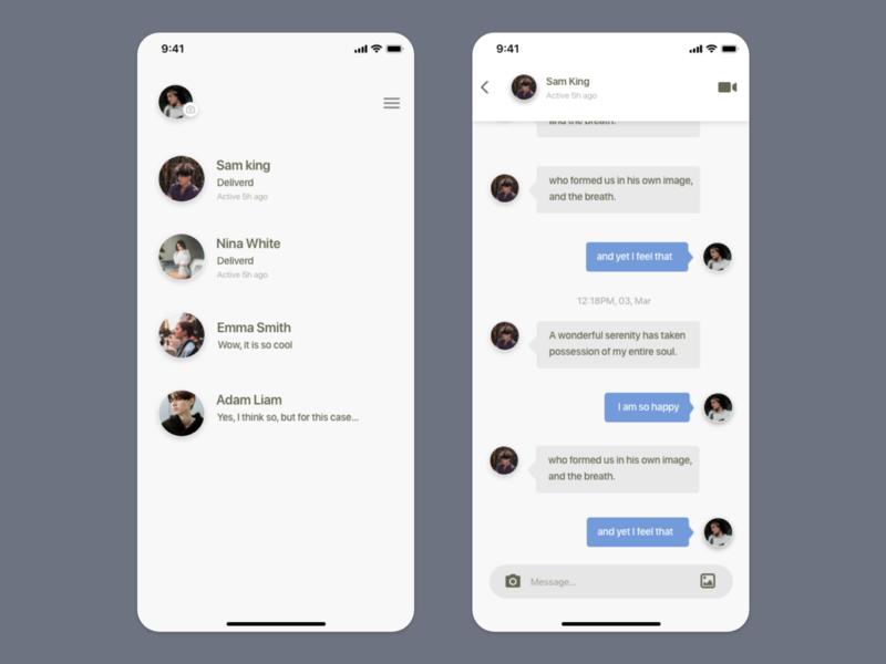 Social App UI concept chat social social app uiux uiuxdesign card detail page app design ui