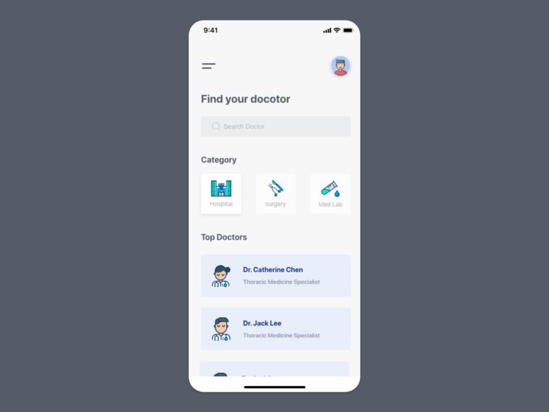 Doctor app UI concept health care health app medical app medical doctor uiuxdesign uiux card detail page app design ui