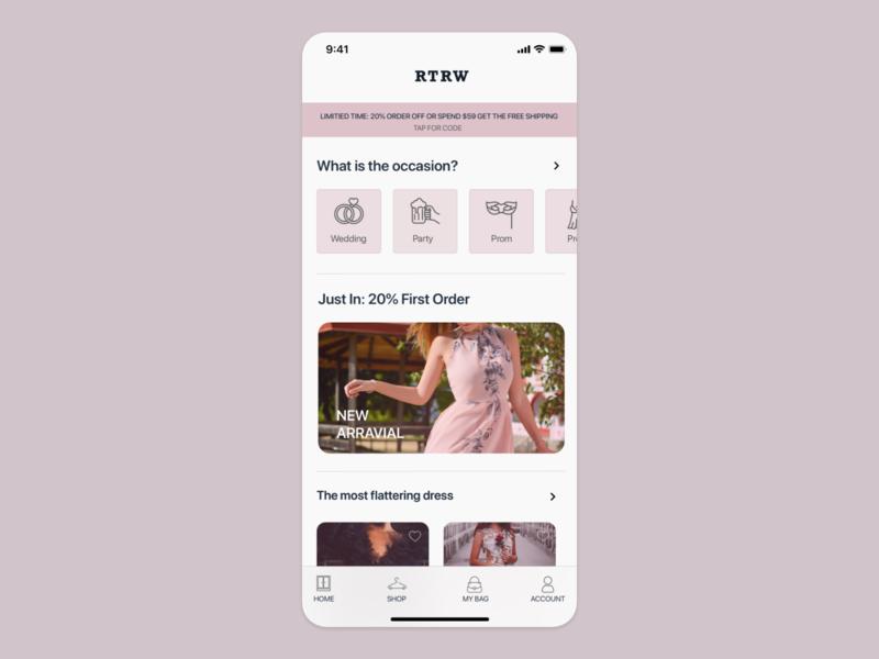 Shopping app UI concept shopping shopping app uiuxdesign uiux card detail page app design ui ecommerce
