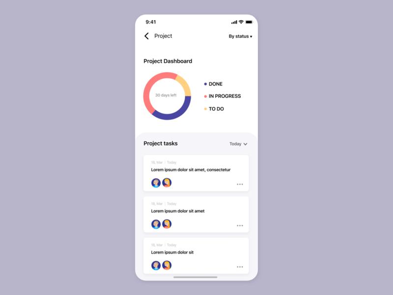 project management UI concept project task management project management uiuxdesign uiux card detail page app design ui