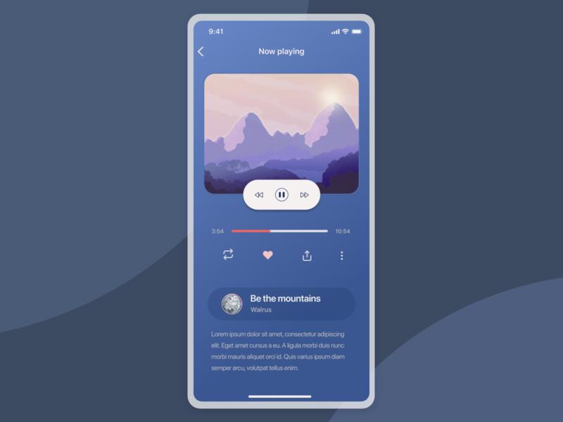 meditation app UI exploration sound bedtime relax meditaion sleep illustration card uiuxdesign uiux app detail page design ui