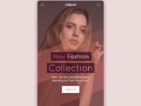 Fashion app landing page