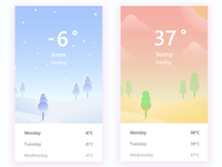 Illustration of weather app