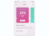 Coupon UI design