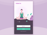 Welcome screen of a yoga app