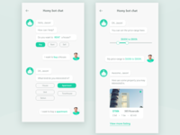 Real estate chat bot concept