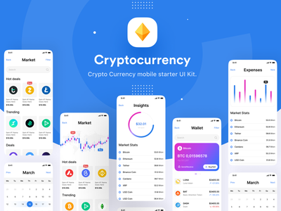 Crypto Trading & Wallet App | Crypto UI Kit 3d trending uiux coins invest stock mobile trading app fintech app banking app financial application cryptocurrency application money blue bitcoins crypto ethereum crypto wallet wallet app