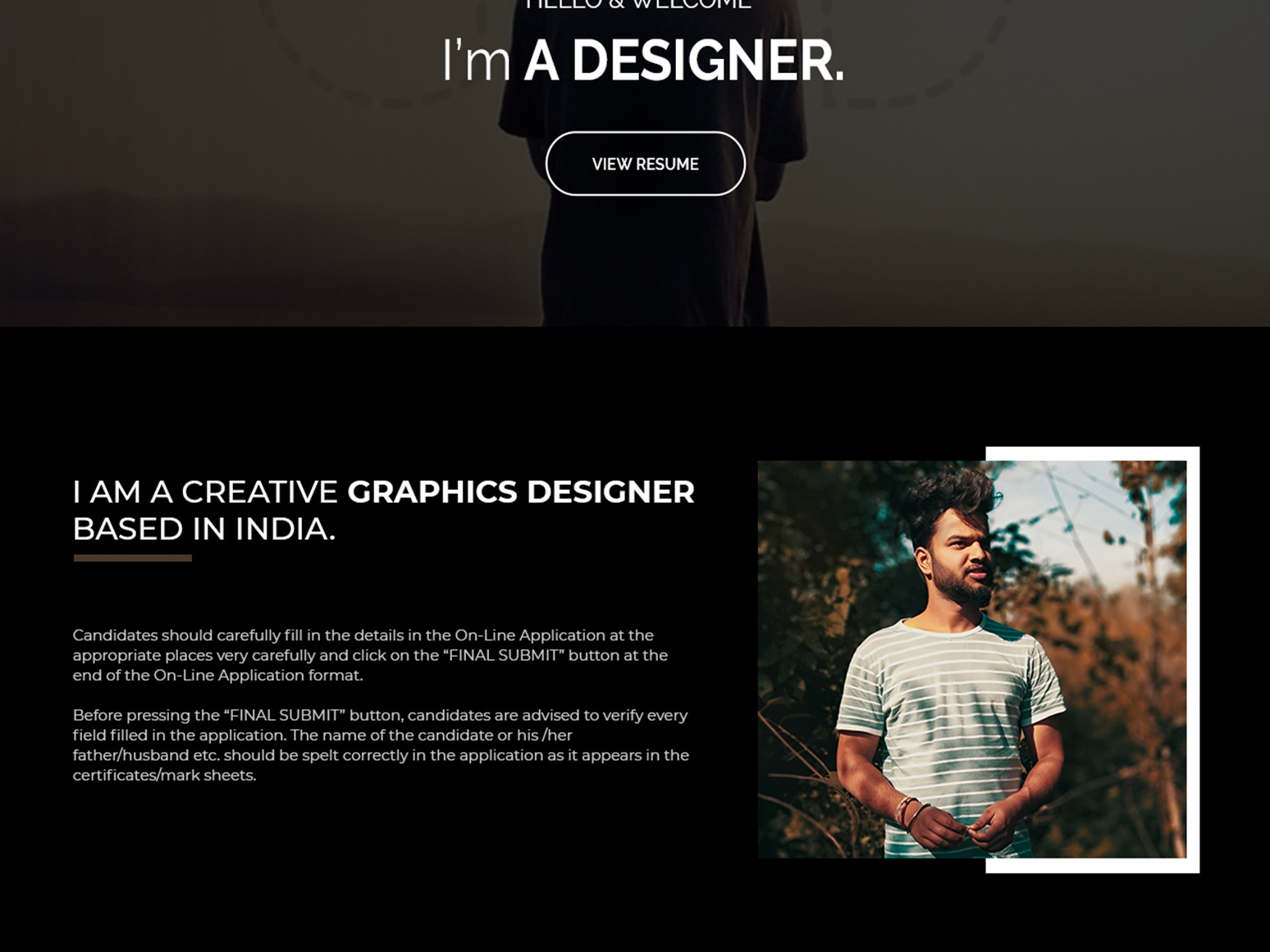 Personal Website Design ui branding website web design web vector typography photoshop illustration design
