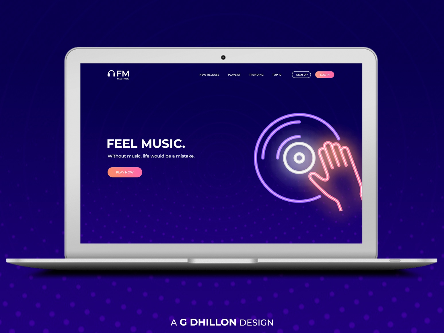 Music Website Design Idea website banner logo icon app ux mobile minimal ios illustrator clean website web design web vector ui typography photoshop illustration design branding