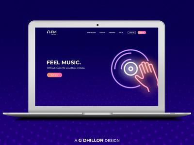 Music Website Design Idea