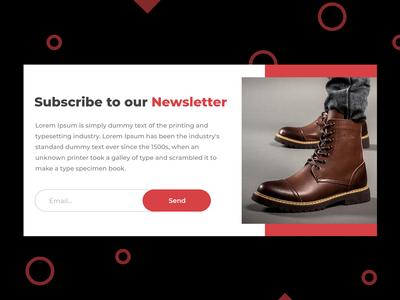ecommerce website Newsletter