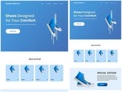 eCommerce Shoes Website Design