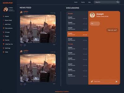 Social Website Design