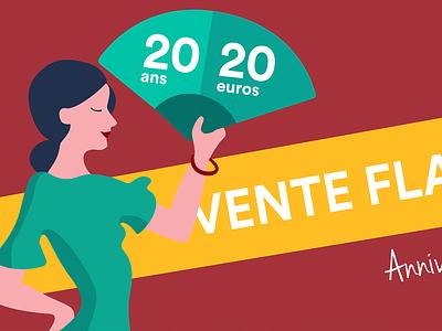 Flash Sale for train tickets to Spain green yellow red woman fan sale madrid seville spain flamenco dancer
