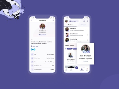 Mentor Spaces — Mentorship and Community App lantinx latin communities talent students careers black and lantin professionals network networking ui design mentors community mentorship mentor spaces z1 app ui design