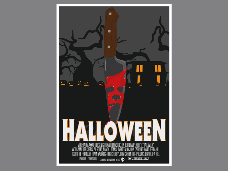 Halloween 1978 Movie Poster.Halloween 1978 Olly Moss Style By Thomas Lacroix On Dribbble