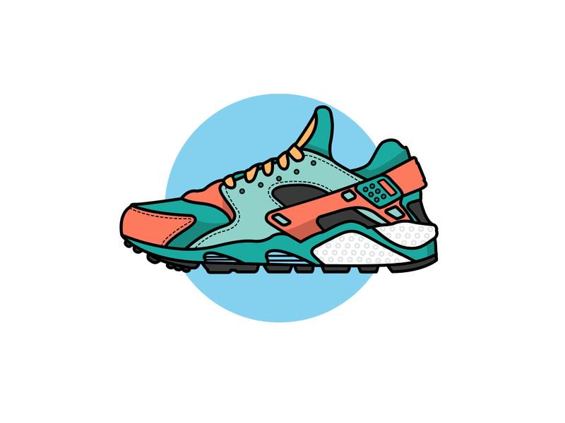 reputable site d2e07 e901e Nike Huarache Illustration