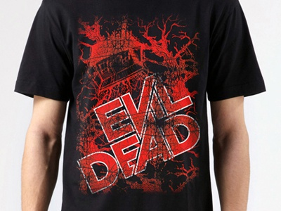Evil Dead Graphic T-Shirt 2 slade carter darkflow media evil dead evil dead t-shirt evil dead poster