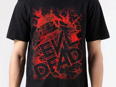 Evil Dead Graphic T-Shirt slade carter evil dead darkflow media evil dead t-shirt evil dead poster
