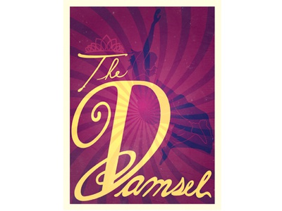 The Damsel slade carter damsel type creative type type custom type