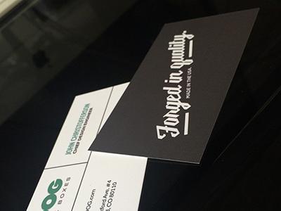 ZDOG Business Cards