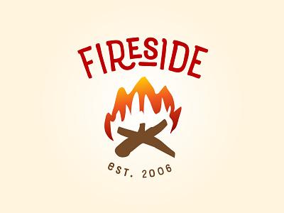 Fireside, option 1 sketchy handdrawn