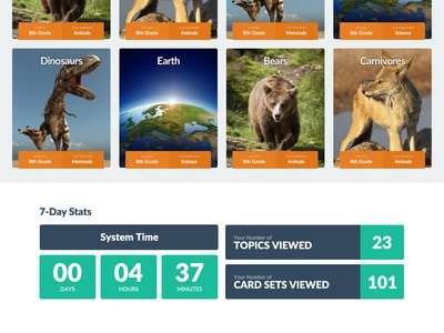 Childhood Education Desktop Web App