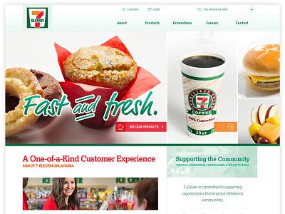 7-Eleven UX & UI grid retail food ui ux