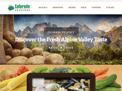 Colorado Potatoes UX & UI animation b2b farming manufacturing food ui ux