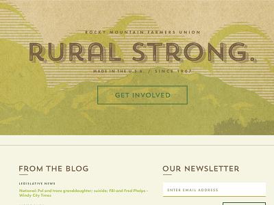 Farmer's Union Woodcut & Typography woodcut typography ui ux